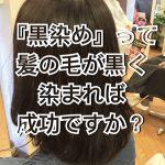『黒染め』って髪の毛が黒く染まれば成功ですか?