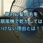 絶対ダメー!!暑くても扇風機で髪の毛を乾かしてはいけない理由とは!